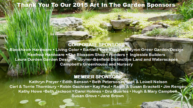 Thank you to our 2015 Art in the Garden Sponsors